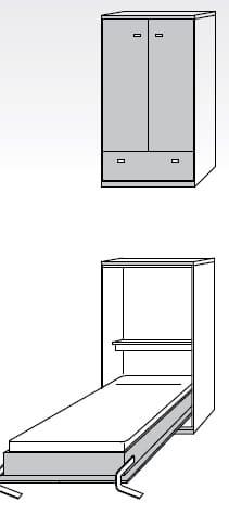 Nehl Schrankbetten Armadi Komfort-Raumsparbett 1400