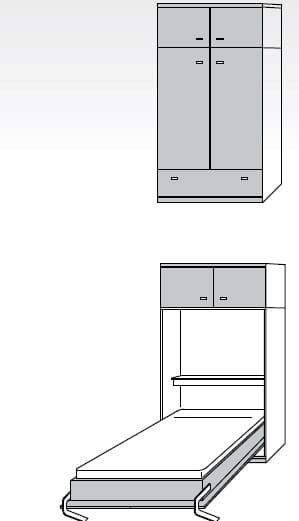 Nehl Schrankbetten Armadi Komfort-Raumsparbett 2420
