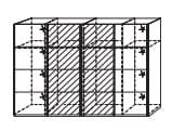 Rauch Select Art Schlafzimmer Beluga-Plus Schwebetürenschränke Variante A - Ausführung Vertikal