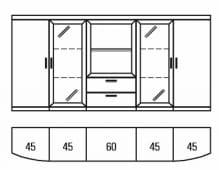 Rietberger Möbelwerke Malta Highboard