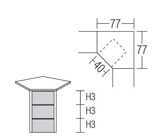 Nolte Germersheim Beimöbel und Traversensystem Alegro2 Style Eckkommoden