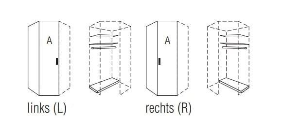 Nolte Germersheim Schranksysteme Horizont 110 Drehtüren-Eckschränke