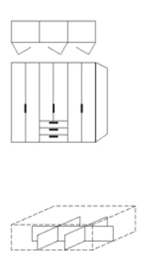 Nolte Germersheim Zubehör Zubehör Falttürenschränke für Schrankelemente mit 160 cm Breite und 60 cm Tiefe - Schubkastenunterteilung