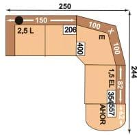 Polipol Polstermöbel Mataro-Dina 2,5L-E-1,5EL-AhoR