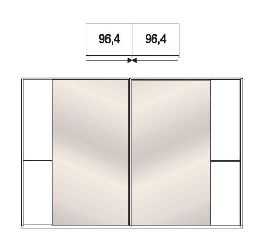Wiemann Schlafzimmer Amrum Schwebetürenschränke Holz- / Spiegeltüren 431