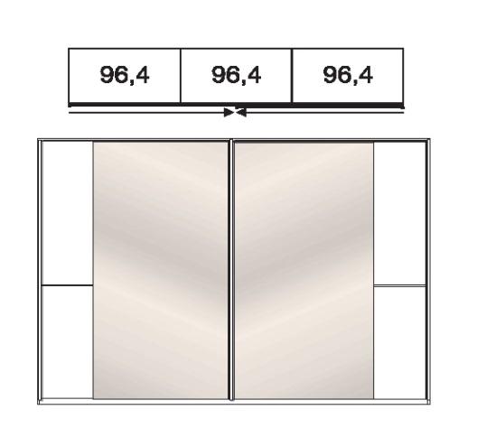 Wiemann Schlafzimmer Amrum Schwebetürenschränke Holz- / Spiegeltüren 433