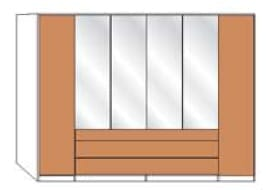 Wiemann Schlafzimmer Lido Dreh-Gleittüren-Panorama-Funktionsschränke