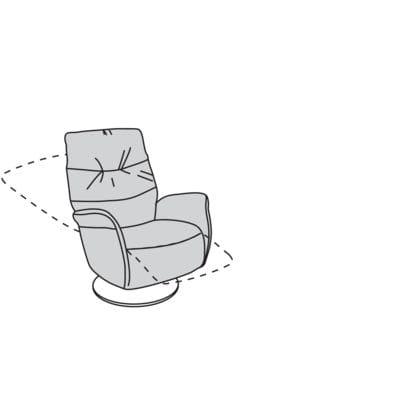 Willi Schillig armchair 32630 - limboo TV-Sessel / Ruhe- / Liege- / Relaxsessel MM50.