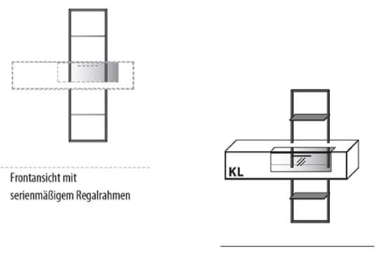 Wöstmann Wohnzimmer WM 1880 Hängeelemente