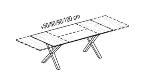 voglauer wohnen v solid tische dt914 wildeiche rustiko schwarz er. Black Bedroom Furniture Sets. Home Design Ideas