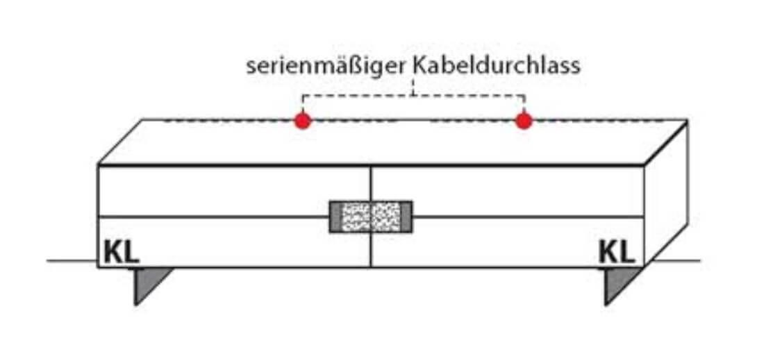 Wöstmann Wohnzimmer C200 Lowboarde