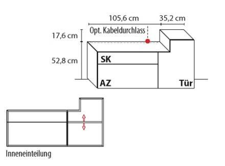 Wöstmann Wohnzimmer NW440 Standelement