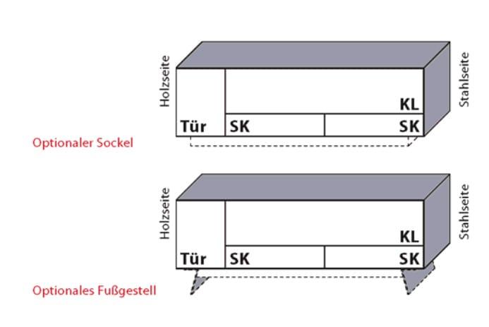 Wöstmann Wohnzimmer NW550 Lowboards