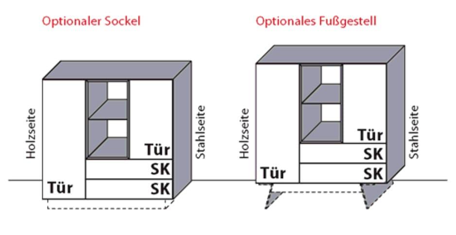 Moebelbestpreiscom Wöstmann Wohnzimmer Nw550 Highboards Möbel