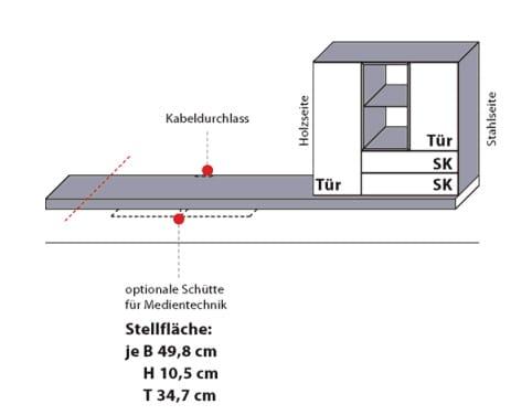 Wöstmann Wohnzimmer NW550 Medienmöbel