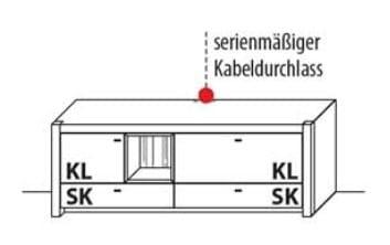 Wöstmann Wohnzimmer WM 1830 TV-Bank / Lowboarde