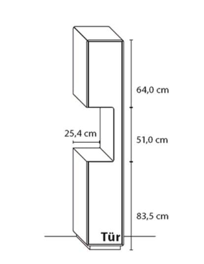 Wöstmann Wohnzimmer Sineo Aufrecht-Standelemente